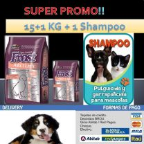 FROST ADULTO SENIOR LIGHT 15+1 KG +1 SHAMPOO  !!