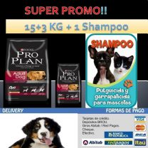 Proplan adulto complete 15+3 kg+1 shampoo de regalo!!
