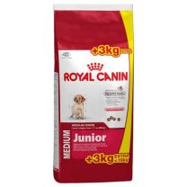 Royal canin médium Junior 15+3 kg + snacks + plato de acero de regalo!!!
