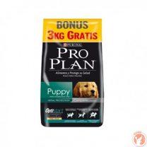Pro plan cachorro 15+3 kg mas snacks mas 1 plato de acero