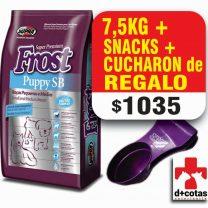 Frost cachorro raza pequeña 7.5 kg +snacks +1 plato de acero de regalo $1035