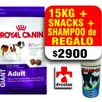 Royal canin giant adulto 15 kg + snacks +1 Shampoo de regalo?? $