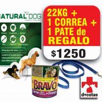 PROMO!! NATURAL DOG ADULTO 22 KG + 1 CORRE Y PATE DE REGALO!! $1200 ENVIO GRATIS