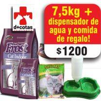 FROST CAT INDOOR (GATOS ADULTOS) 7.5+1 KG + 1 BEBEDERO Y COMEDERO DE REGALO TODO X $1200
