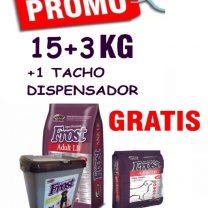 Frost adulto raza grande 15+3 kg +snacks+1 tacho dispensador de regalo 🎁 Envió gratis todo Montevideo!!