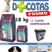 Frost cachorro 15+3 Kg +snacks +1 tacho dispensador de regalo!! 🎁