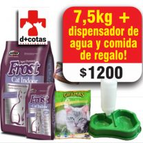 Frost Cat indoor 7.5 kg + 2 Kg de piedras + 1 dispensador de agua y comida de regalo 🎁 $1200