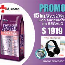 FROST ADULTO LIGHT /SENIOR 15 KG + PROMO AURICULARES DE REGALO!!