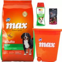 MAX BUFFET 20+2KG+SNACKS+ CONTENDOR O SHAMPOO PULGUICIDA $2150