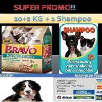 ALIMENTO BRAVO ADULTOS 20+1KG+SHAMPOO+ENVIO GRATIS