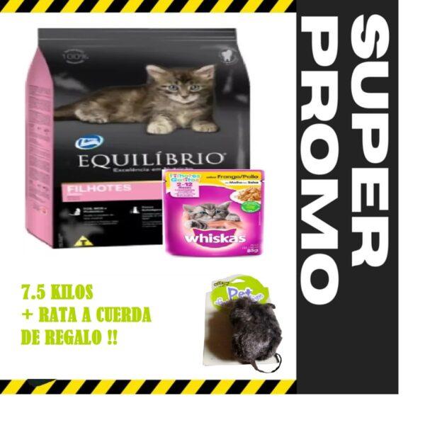 EQUILIBRIO GATITOS + RATA A CUERDA
